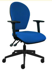 RB4 Energi-24 Posture Ergo Computer Home or Office Chair Blue Fabric BUILT