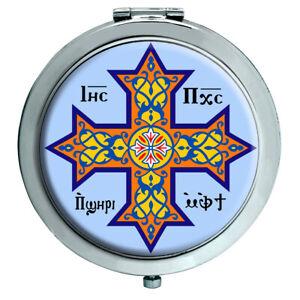 Coptic Cruz Cristiano Espejo Compacto