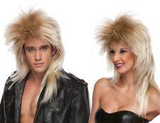 Grande 42-44 Pulgadas // 107-112 cm Pecho Disfraz de Glam Rock para Hombre de los a/ños 80 balanc/ín de Metal Pesado Gran Pelo 1980s Vestido de Lujo para Adulto