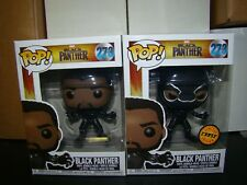 FUNKO POP MARVEL BLACK PANTHER CHASE AND COMMON SET-VHTF