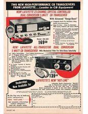 1965 Lafayette HB-400 HB-500 CB Radios Tranceivers Vtg Print Ad