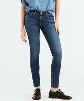 Levi's Women's 711 Skinny Fit Jeans In Astro Indigo Blue