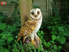 LIFE SIZE BARN OWL. Lovely, Ultra Realistic Home or Garden Ornament. Vivid Arts.