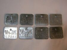 Trap Tags License Old Hunting 1970 - 1971 & 1971 - 1972 Wi Trapping T*