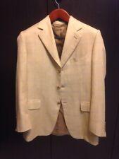 CANALI Beige Woven SILK LINEN WOOL Blazer Sport Coat Jacket - EU 52 / US 42 R