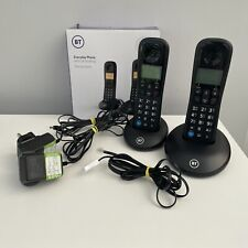 BT Everyday Cordless Phone with Call Blocking TWO Handsets Landline Boxed