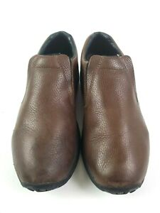 Merrell Mens Ortholite Mahogany Brown Leather Jungle Moc Loafers Shoes Size 11