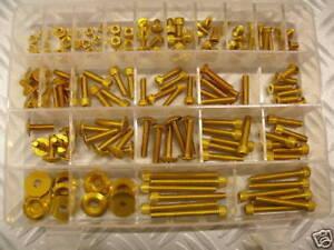 Kit de Vis ergal 150 Pièces M5 M6 Vis Dés Rondell Couleur Or ! Fantastique