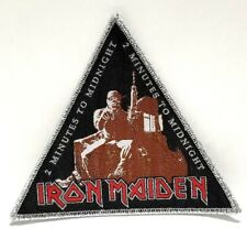IRON MAIDEN ( 2 minutes to midnight) silver border WOVEN PATCH