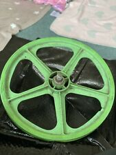 Green Skyway Bmx Mag Wheels Retro 80's Old School 5 Spoke GC Raleigh Burner