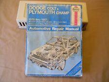 HAYNES Dodge Colt & Plymouth Champ '78 - '87 All FWD models - SHOP REPAIR MANUAL