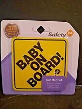 SAFETY 1st...BABY ON BOARD! CAR MAGNET
