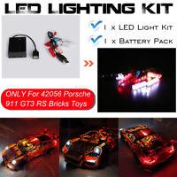 DIY LED Light Lighting Kit ONLY For Lego 42056 911 GT3 RS Bricks Toys