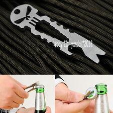 1X SS EDC Pocket Multi Tool Skeleton Spanner Bottle Opener Screwdriver Crowbar