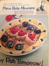 Ephemera 1956 Large Folded Advert Plaice Belle Meuniere A Agosti Chef Ivy IM115