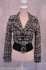 Size 12 Black and Grey Check Jacket