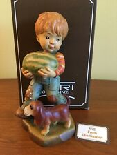 """Anri """"From the Garden"""" 6"""" Hand Carved and Painted Wood Figurine by Sarah Kay Coa"""