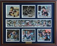 New SYDNEY ROOSTERS LEGENDS Memorabilia Limited Edition Framed Comes With COL