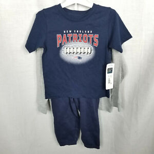 NFL Patriots Toddlers Shirt and Pants 3 Piece Set Sweatpants New England Size 3T