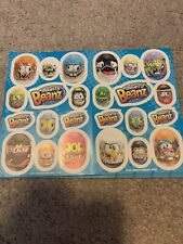 Lot Of 25 Sheets Of Mighty Beans Stickers