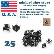 25 x 6x6x6 mm Miniature Micro Momentary Tactile Tact Touch Push Button Switch