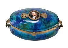PM Sevres Porcelain Box with Miniature Hand painted Napoleon Portrait c1900