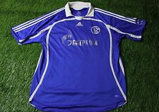 SCHALKE 04 GERMANY 2007/2008 FOOTBALL SHIRT JERSEY HOME ADIDAS ORIGINAL SIZE XXL