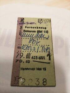 Fahrkarte 1.Klasse 1969