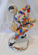 Capodimonte Harlequin Court Jester Mask chicken figurine Carnival Vintage 1984