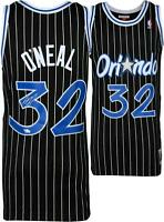 Shaquille O'Neal Orlando Magic Signed Mitchell & Ness Black Pinstripe Jersey