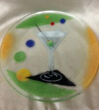 "INKOGNETO 56311 FUSION COCKTAILS CLASSIC MARTINI ART GLASS PLATE 7 7/8"" MCGRATH"
