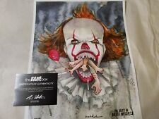 Bam Box EX. BRETT WELDELE Signed Autograph 11X14 IT Pennywise Print 188/350 COA