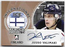 2016-17 Leaf ITG H&P International Ice Juuso Valimaki Bronze Auto RC Flames