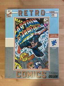 Retro Comics Captain America 1000pc Jigsaw Puzzle Sealed