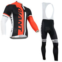 YQ557 New Cycling Winter Thermal Fleece long sleeve jersey Padded Bib Pants Kit