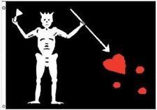 Edward Teach Blackbeard Skeleton Pirate Polyester 3x5 Foot Flag Outdoor Banner