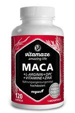 (?17,02/100g) Maca Kapseln hochdosiert + L- Arginin + OPC, Zink, Vitamin B6, B12