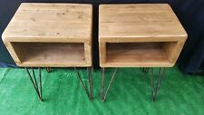 Pair Of Rustic Reclaimed Wood Bedside Tables
