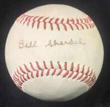 Rare Vtg 60s BILL SHERDEL Single Signed 1926 World Series Champion Baseball 1968