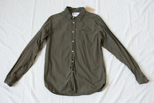 MARGARET HOWELL MHL Olive Shirt - Men's S - dyed poplin inventory engineered