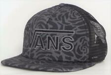 Vans Off The Wall Drop V Womens Black Rose Snapback Trucker Hat NEW NWT
