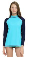 Women Long Sleeve Rash Guard Swimwear Quick Dry Surfing UV Protection UPF 50+
