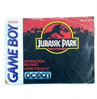 Notice jeu Nintendo Game Boy Jurassic Park PAL FAH Instruction Booklet