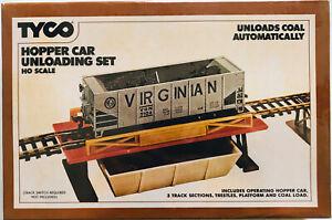 Tyco  HO Scale Hopper Car Unloading Set#862 UNLOADS COAL AUTOMATICALLY Sealed