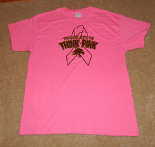 Ladies/Womens Texas State Pink Ribbon Breast Cancer Awareness S/S Shirt, Sz. L