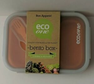BENTO BOX ECO ONE COLLAPSIBLE SILICONE FOOD CONTAINER BPA FREE - orange