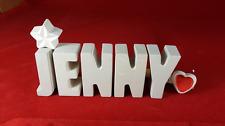 Beton, Steinguss Buchstaben 3D Deko Namen JENNY als Geschenk verpackt!