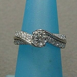 Diamond Engagement Ring .70 ct center GIA certified size 6