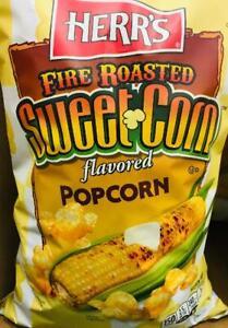 "2 ""HUGE"" Bags Herr's Fire Roasted Sweet Corn Popcorn 11oz ~FAST FREE SHIPPING !"