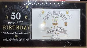 Vintage Signography Range Birthday Photo Frame - 50th Birthday
